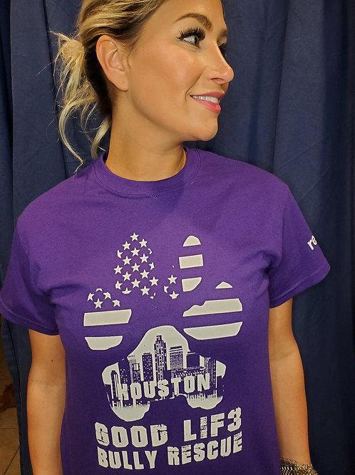 Houston Paw with Flag Tees