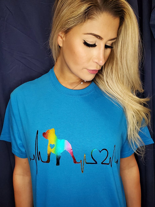 Rainbow Heartbeat Tee