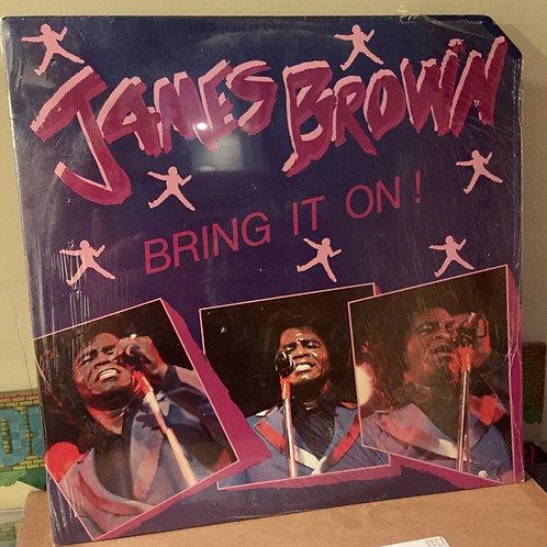"""JAMES BROWN """"Bring It On"""" SEALED LP ORIG 1983 Funk Soul Vinyl Record"""
