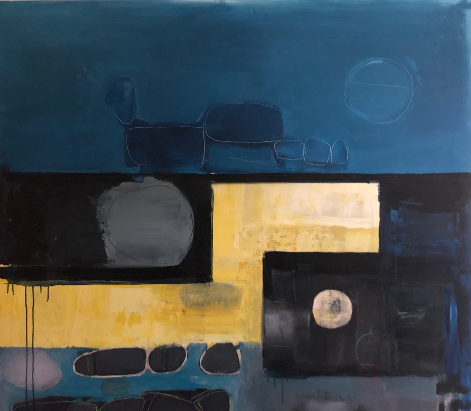 Saunton Yellow Blue and Grey