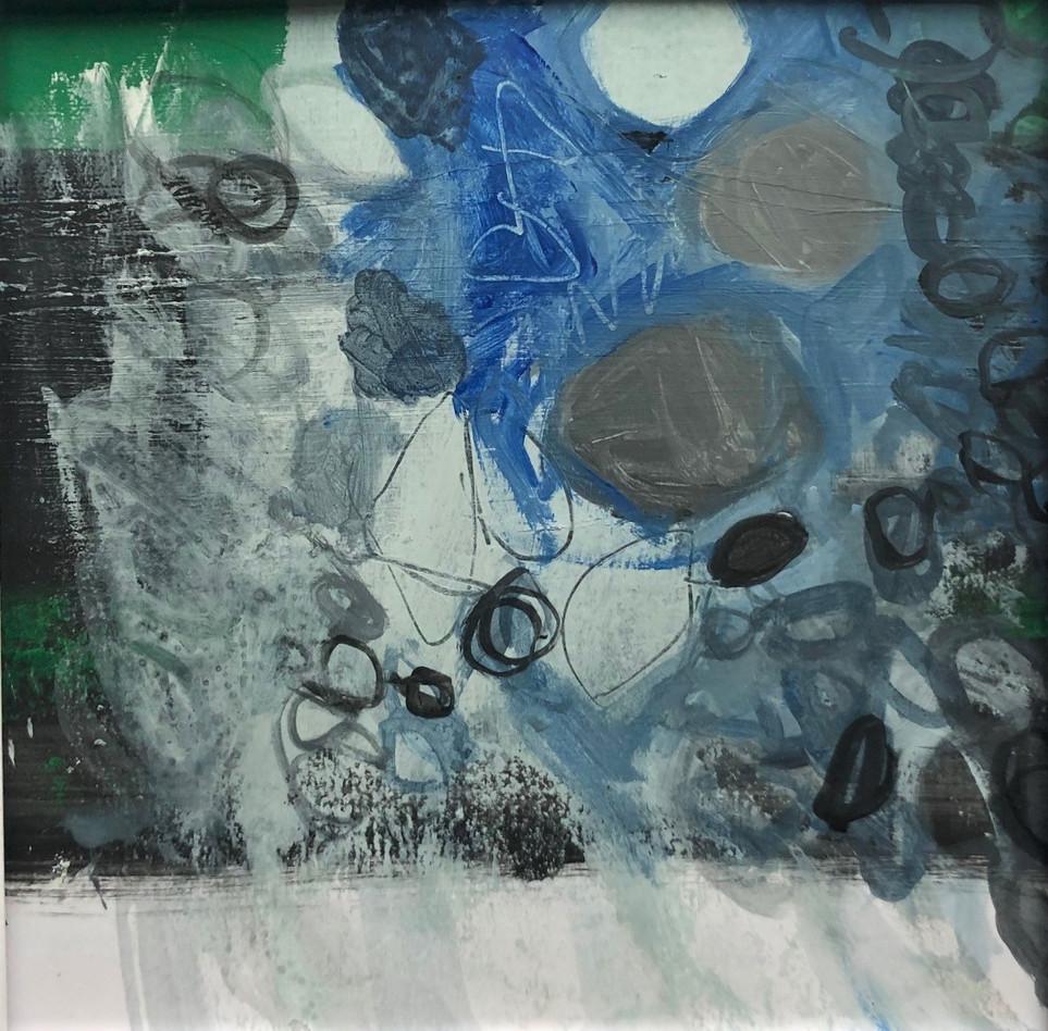 blue white grey rockpool