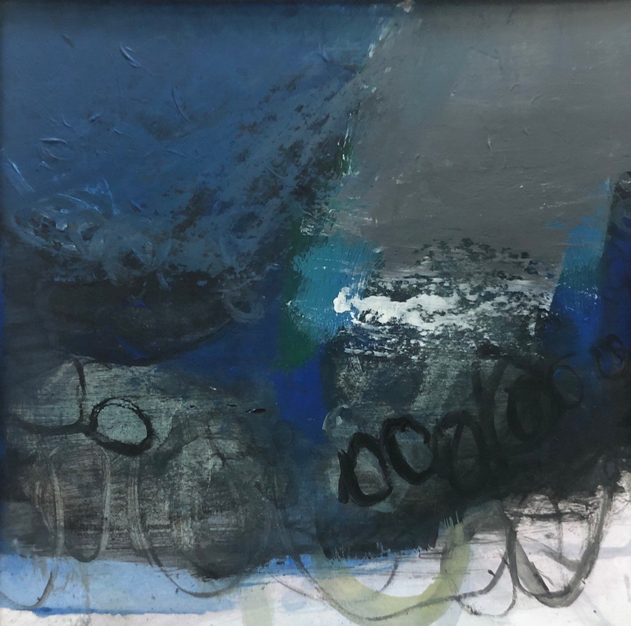 Blue Light black stones