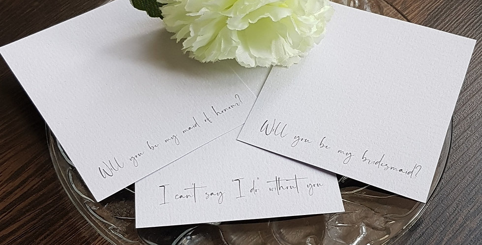 Add On Personalised Message Cards