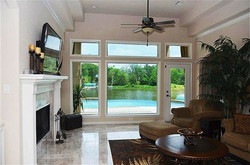 The Wimberly Spacious Living with Marble Floor Extra large windows to enjoy the view year round