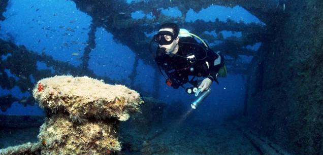 Texas wreck scuba diver.