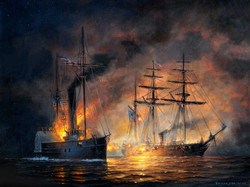 Painting rendition of the battle.
