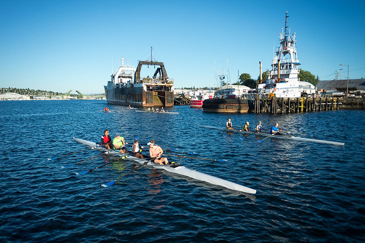 Rowing in the Seattle Ship Canal