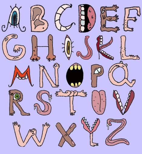 5 senses alphabet