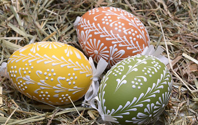Uova di Pasqua on Hay