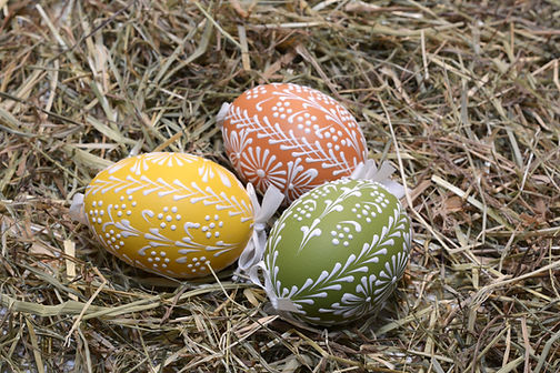 Easter Eggs on Hay