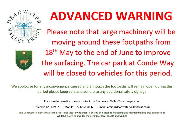Notice - Temporary path closure May 2021