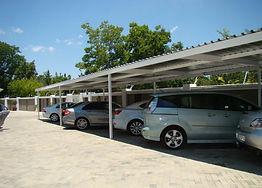 secure, under-cover parking bays