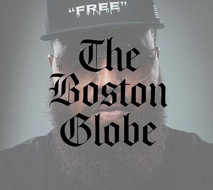 jonn.Beatty boston globe article press write up newspaper custom hat merch black framed gl