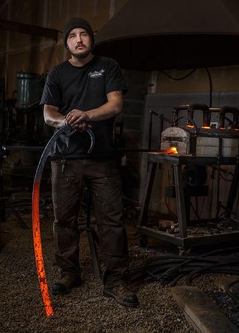 20161216 Riley Sykes blacksmithing portr