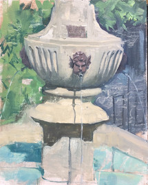 a fountain in Provence