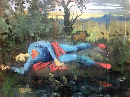 The death of superman and the kryptonit pig