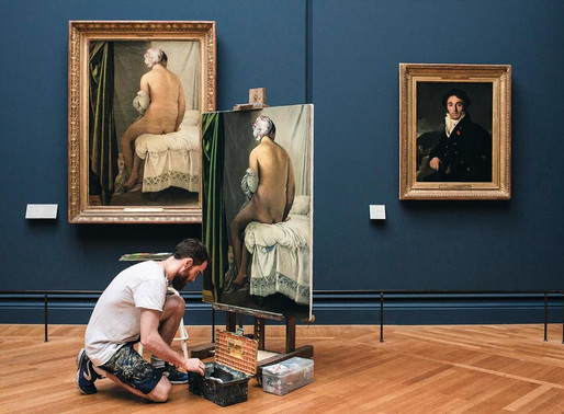 Articles in MY MODERN MET & Chambre 237 about copying in the Louvre