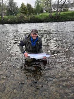 Donald Mateer first fish 2019 14lb