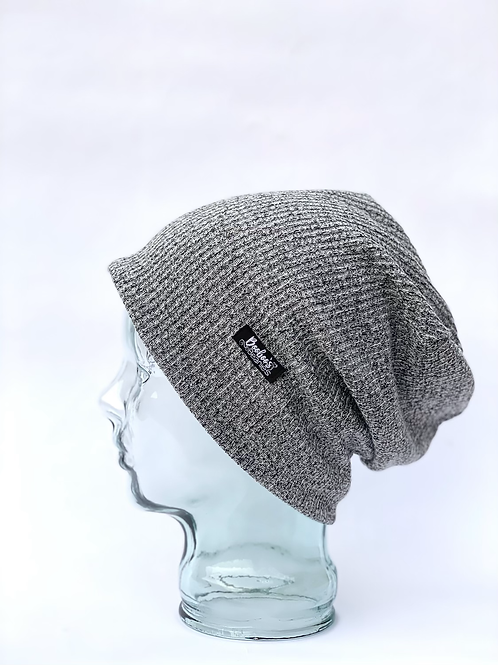 Speckle Grey Ribbed- lined beanie