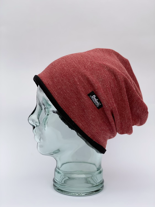 Washed Red Slouchy Beanie