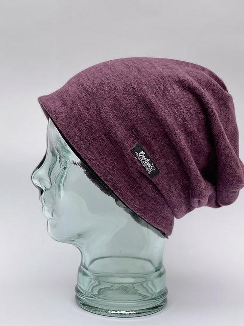 Soft Purple Slouchy Beanie- Lined