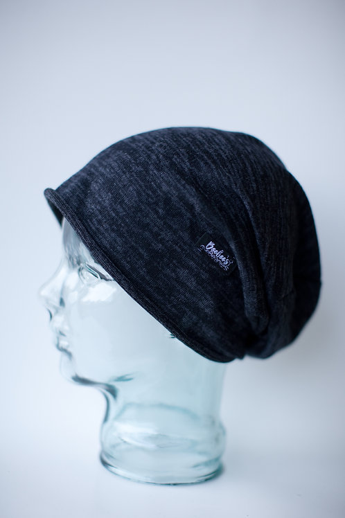 Soft Blue Slouchy Beanie- lined