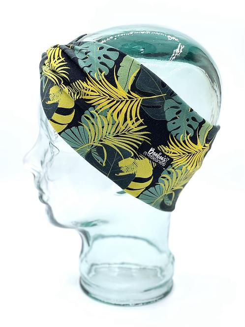 Tropical Palm Leaves Headband- Black