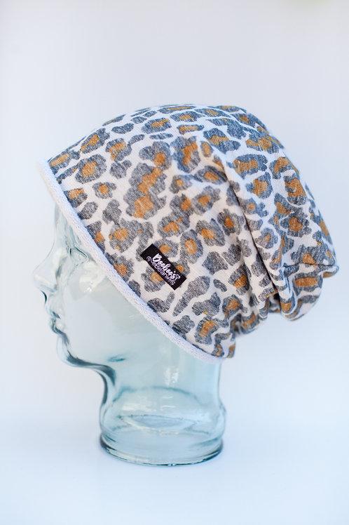 Leopard Terry Slouchy Beanie