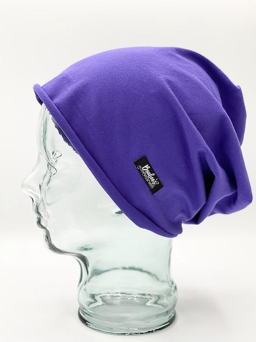 Purple Beanie, unlined