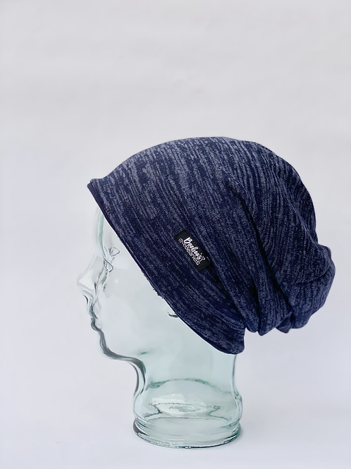 Soft Blue Lined Beanie (large)