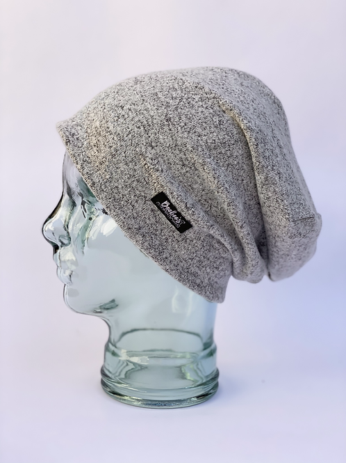 Salt and Pepper Slouchy Beanie (lined)