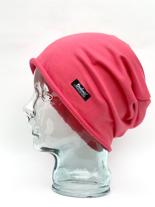 Salmon Slouchy Beanie Unlined