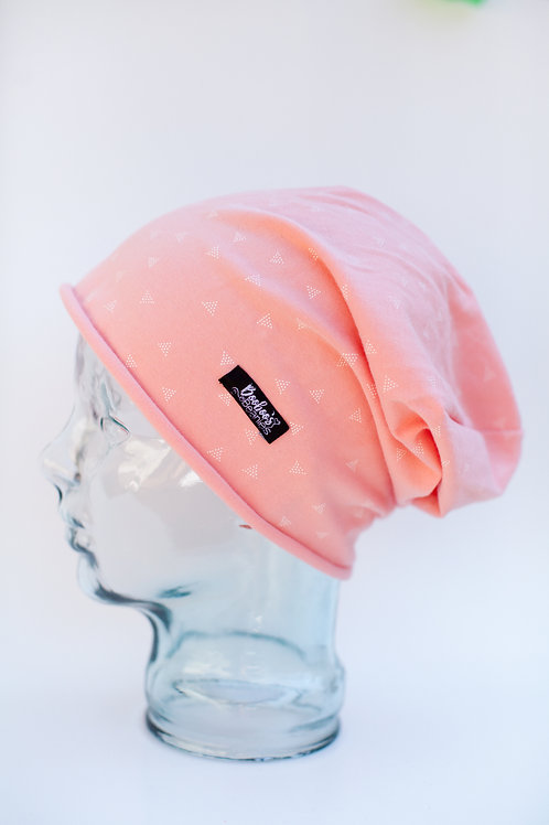 Coral Triangles Slouchy Beanie