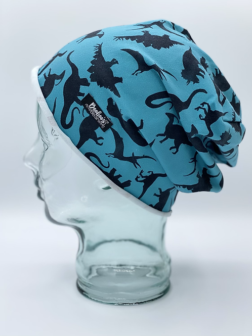 Dinosaur Silhouettes Blue - Unlined