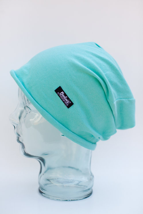 Mint Slouchy Beanie (unlined)