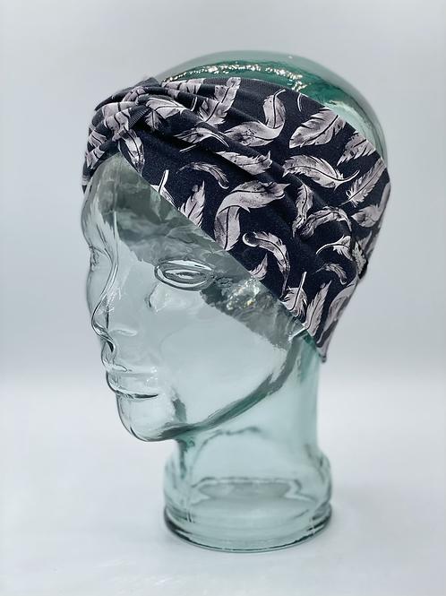 Feathers on Black Headband