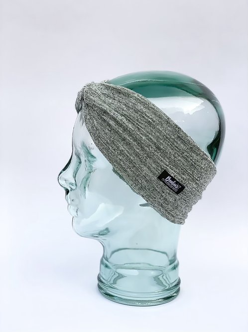 Green and white headband