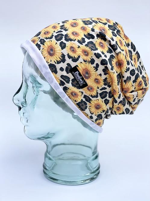 Jaguar Sunflower Slouchy Beanie