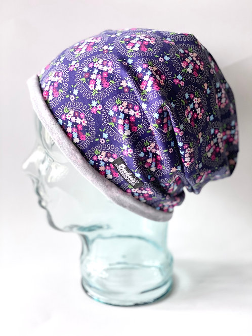 Floral Clusters Slouchy Beanie (unlined)