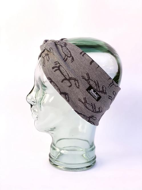 Stick Horses Headband - Grey