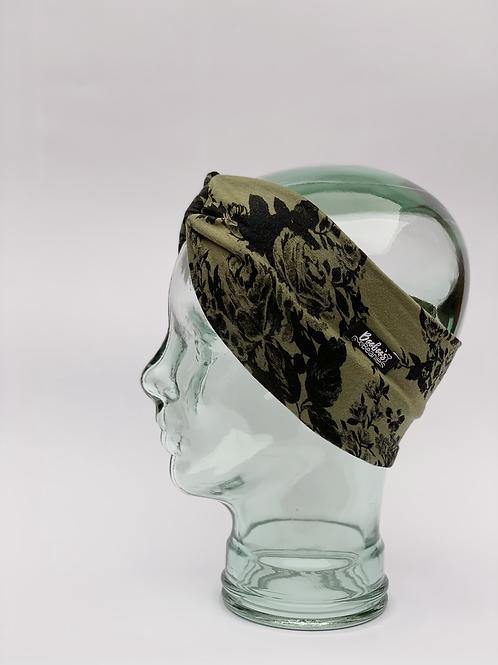 Vintage Floral Green Headband