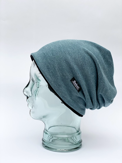 Washed Blue Slouchy Beanie