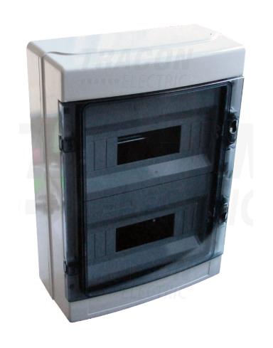 Nadžbukni razdjelnik, prozirni poklopac, N/PE nosač