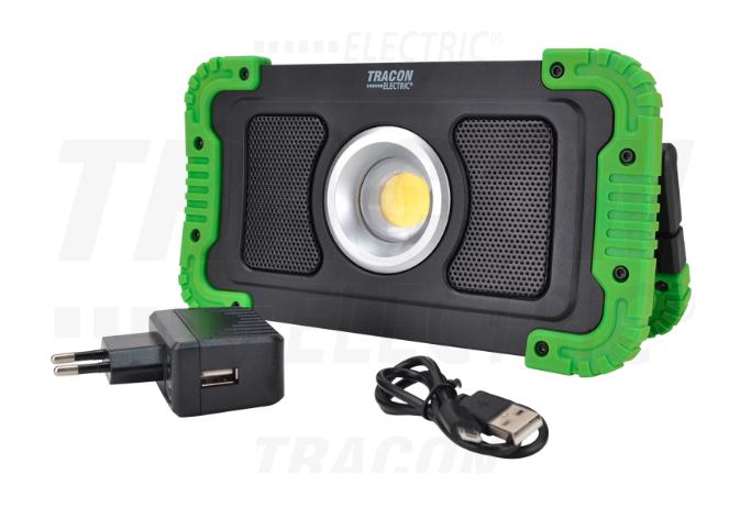 Akumulatorski LED reflektor s Bluetooth zvučnikom