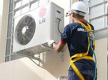 Instalação e manutenção de aparelhos de ar condicionado split e de janela