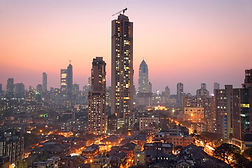 Panoramic view of south central Mumbai -