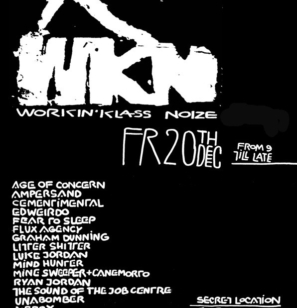 Workin' Klass Noize (wkn) 20/12/2013, abandoned building, Shoreditch, London, UK