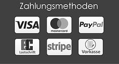 Zahlungsarten Visa Mastercard PayPal Vorkasse