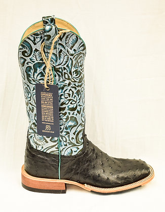 Ladies Anderson Bean Black Full Quill Ostrich Boots 323676