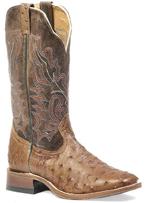Men's Boulet Full Quill Ostrich Wide Square Toe Cowboy Boot 1503